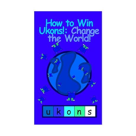 """""""Change the World!"""" Sticker"""