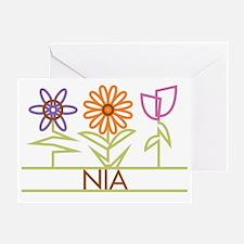 NIA-cute-flowers Greeting Card