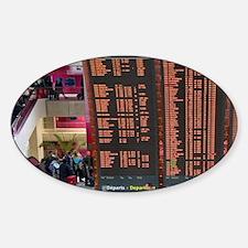 Departure board located in the Pari Sticker (Oval)