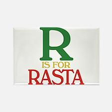 R is for Rasta Rectangle Magnet