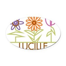 LUCILLE-cute-flowers Oval Car Magnet