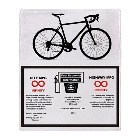 Bike MPG Throw Blanket