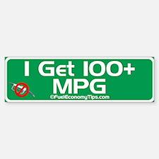 100 + MPG Bumper Bumper Bumper Sticker