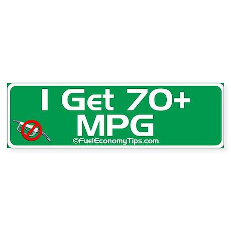 70 + MPG Bumper Sticker