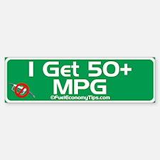 50 + MPG Bumper Bumper Bumper Sticker