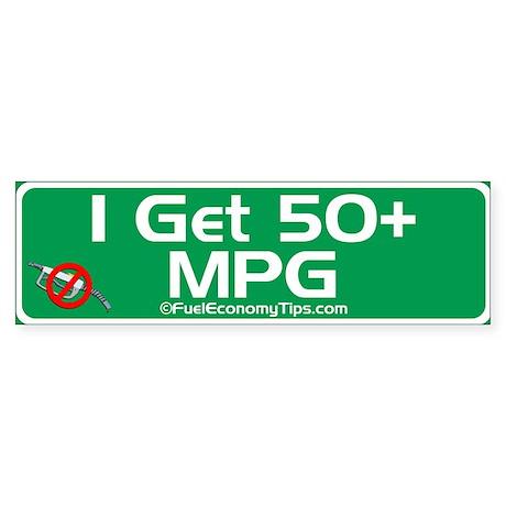50 + MPG Bumper Sticker