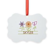 SKYLER-cute-flowers Ornament