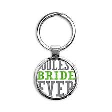 Coolest Bride Round Keychain