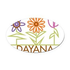 DAYANA-cute-flowers Oval Car Magnet