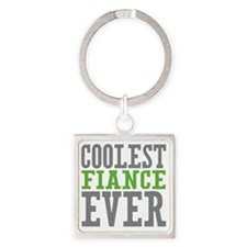 Coolest Fiance Square Keychain