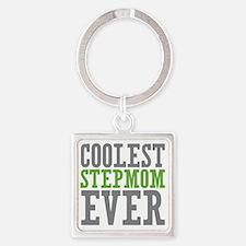 Coolest Stepmom Square Keychain