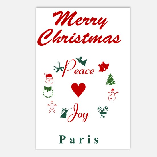 Paris_5x7_Christmas Stock Postcards (Package of 8)
