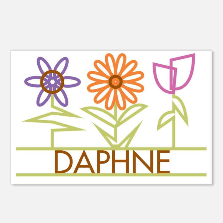 DAPHNE-cute-flowers Postcards (Package of 8)