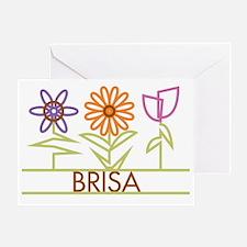 BRISA-cute-flowers Greeting Card