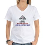 All Stressed Out! Women's V-Neck T-Shirt