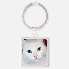 cat 1 Square Keychain