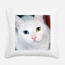 cat 1 Square Canvas Pillow