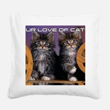 Cover Cat Square Canvas Pillow