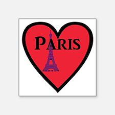 "Paris_3x3_bear Square Sticker 3"" x 3"""