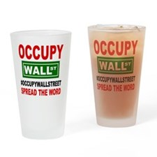 occupy wall street spread the word  Drinking Glass