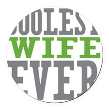 Coolest Wife Round Car Magnet