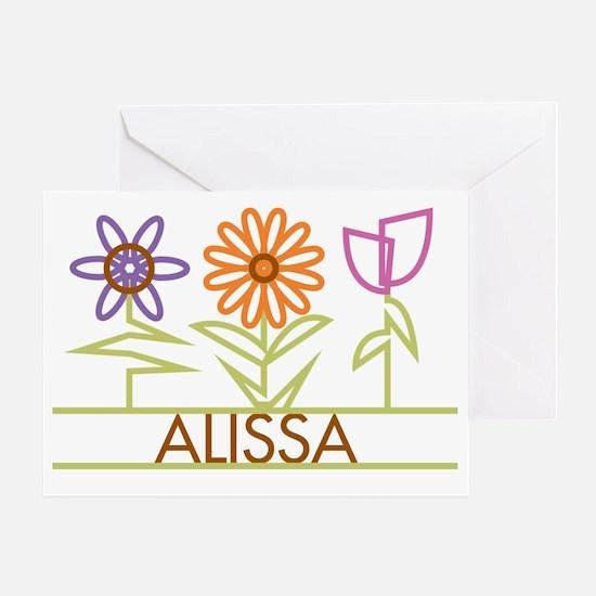 ALISSA-cute-flowers Greeting Card