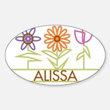 ALISSA-cute-flowers Sticker (Oval)