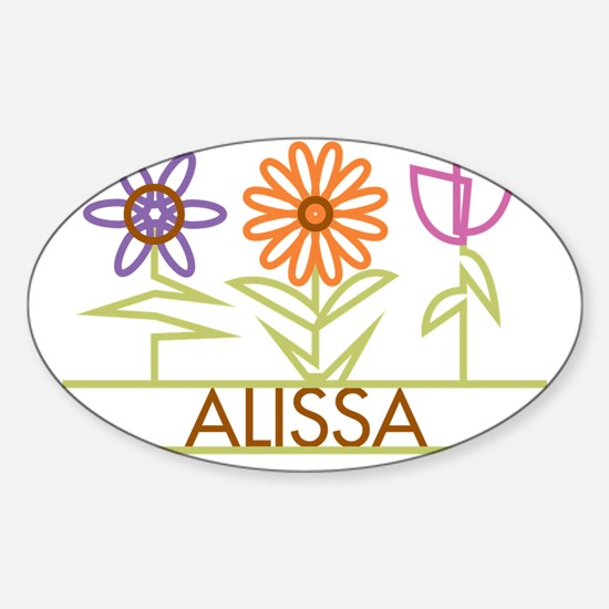 ALISSA-cute-flowers Sticker (Oval)