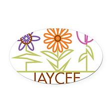 JAYCEE-cute-flowers Oval Car Magnet
