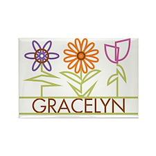 GRACELYN-cute-flowers Rectangle Magnet