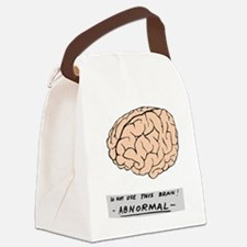 young-f-brain-no-yf-black-text Canvas Lunch Bag