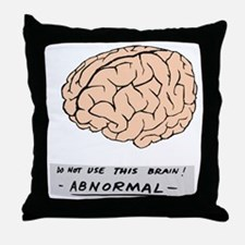 young-f-brain-no-yf-black-text Throw Pillow