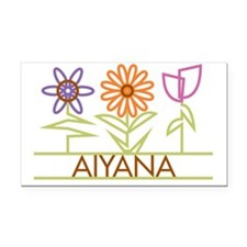 AIYANA-cute-flowers Rectangle Car Magnet