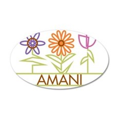 AMANI-cute-flowers 35x21 Oval Wall Decal
