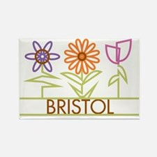 BRISTOL-cute-flowers Rectangle Magnet