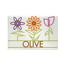 OLIVE-cute-flowers Rectangle Magnet