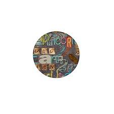 capricorn calender astrology blocks 00 Mini Button