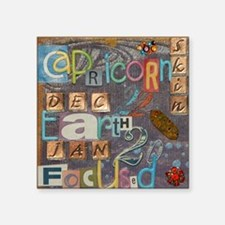 "capricorn calender astrolog Square Sticker 3"" x 3"""