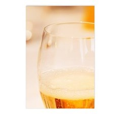 A champagne glass flute f Postcards (Package of 8)