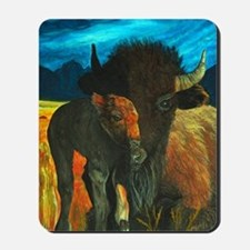 buffalo with babe2-journal Mousepad