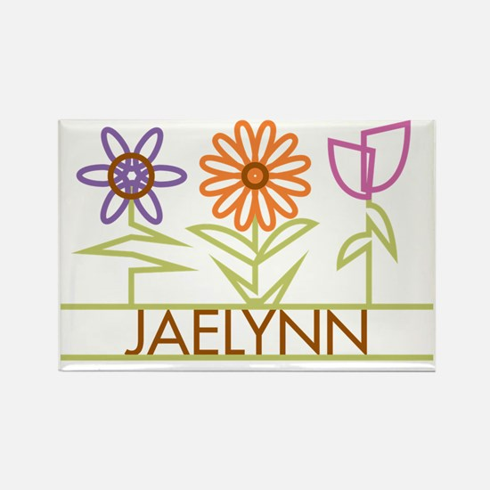 JAELYNN-cute-flowers Rectangle Magnet