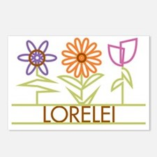 LORELEI-cute-flowers Postcards (Package of 8)