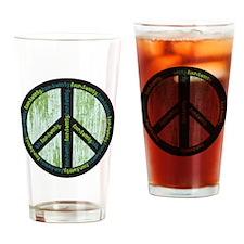 PeaceGreens Drinking Glass