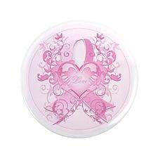"PinkRibLoveSwirlRpTR 3.5"" Button"
