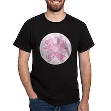 PinkRibLoveSwirlRpTR T-Shirt