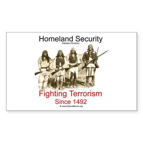 Fighting Terrorism Since 1492 - Apache Sticker (Re