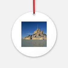 Mont St Michel, Manche, Normandy, F Round Ornament