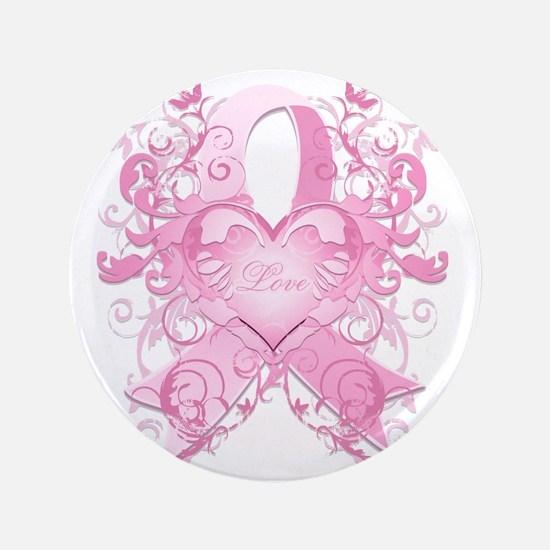 """PinkRibLoveSwirlTRs 3.5"""" Button"""