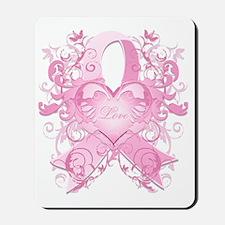 PinkRibLoveSwirlTRs Mousepad