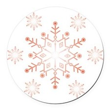 snowflake dark Round Car Magnet